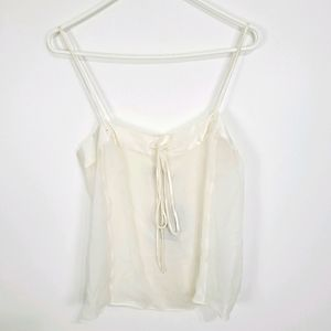 Tom Ford | NWT Silk Cami Blouse Tie Front Size 42